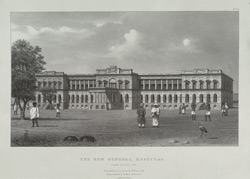The New General Hospital.  Taken in April, 1829